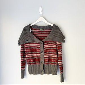 Eddie Bauer fair isle cardigan sweater